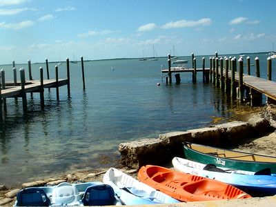 Kayaks at Pelican Hotel Key Largo